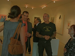 hanging with the jurors at my Out There opening in WeHo